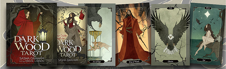 Dark Wood Tarot showing various cards